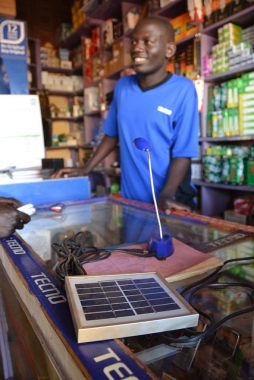 Solar salesman in Gulu Uganda Photo credit James Anderson