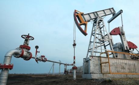 Oil pumpjacks in Tatarstan, Russia